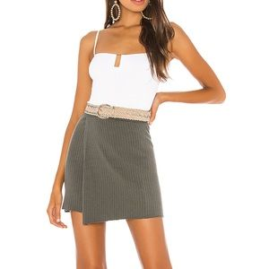 🆕 Free People Green Ribbed Skirt